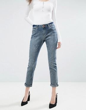 ASOS KIMMI Shrunken Boyfriend Jeans In Rhonda Wash £35.00