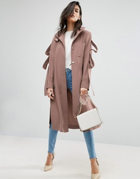 ASOS Duster Coat With Loop Sleeve Detail £65.00