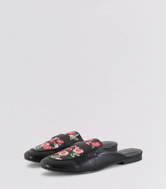 black-floral-embroidered-mules-